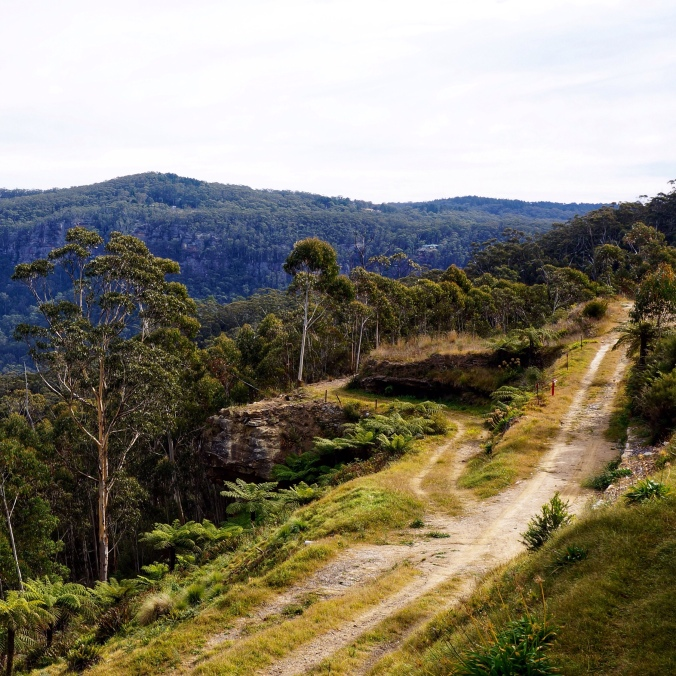 Path overlooking Megalong Valley, Medlow Bath, NSW, Australia
